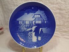 Royal Copenhagen Christmas Plate Jule After 1973 B&G Country Christmas Blue