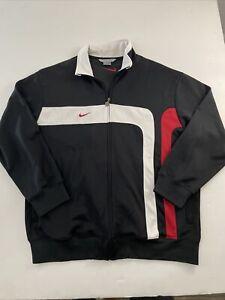 Vintage Nike Full Zip Track Jacket Black Red Men's Size XL