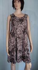 Jostar BLACK & White Peacock  SLINKY TANK DRESS Wrinkle Free Travel Fabric. XL
