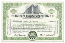 Stewart-Warner Corporation Stock Certificate (Chicago, Speedometers)