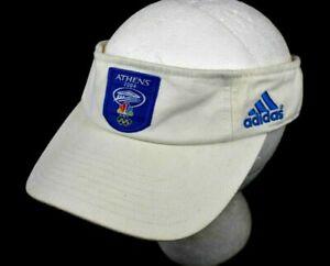 Adidas Athens 2004 Sports Althletic Visor Ballcap Hat - White Rare Collectible