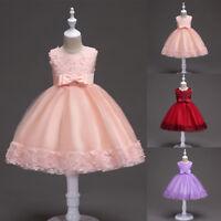 Flower Girl Princess Dress Kids Baby Pageant Party Wedding Birthday Tutu Dresses