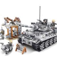 1154pcs Militär Tiger Panzer Gepanzerter Modell Bausteine mit WW2 Soldat Figuren
