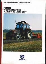 FIATAGRI Models 95-90 & 95-90 DT, 90 Series Tractor Brochure Leaflet