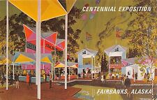 Alaska postcard Fairbanks Centennial Exposition 1967 Bartlett Plaza