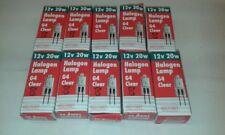 10 x RED/GREY 20W  GY4 Cap 12V  Clear Halogen Capsule Light Bulb Lamp Job Lot UK