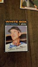 1971 TOPPS SIGNED AUTO CARD STEVE HAMILTON WHITE SOX YANKEES SENATORS LAKERS 627