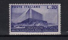 1951 ITALIA Ara Pacis Redipuglia a Medea LIRE 20 MNH** Perfetto integro Ss 656
