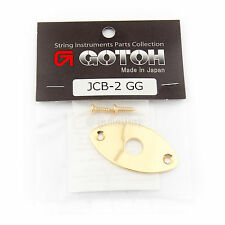 NEW Gotoh JCB-2 Oval Curved Footbal Style Jack Plate for Guitar - GOLD