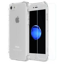 apple iphone 7 housse etui coque silicone transparent + film de protection