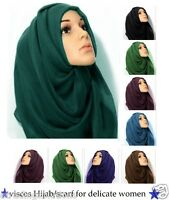 Plain Maxi Scarf Hijab Shawl [Many Colours Available] - Vis