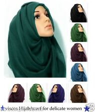 Plain Maxi Scarf Hijab Shawl [Many Colours Available] - Vis