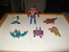 Transformers G1 Cassette Lot SquawkBox-Slamdance-Frenzy-Overkill-Slugfest w Guns