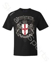 Lambretta Mens T-shirt Casual Shirt Tee S M L XL 4xl 5xl-with Tag Crest-black Small