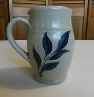 HANDMADE CLAY CREAMER by The Williamsburg Pottery Handpainted Leaf Design