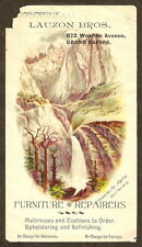 VTC Trade Card LAUZON BROS FURNITURE UPHOLSTERY Grand Rapids MI Yosemite Falls