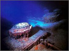 Photo: Titanic Wrecksite: Twin Anchor Windlasses On The Forecastle Deck