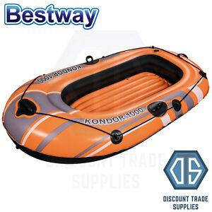 Bestway Inflatable Fishing Rowing Boat Raft Canoe Kayak Dinghy