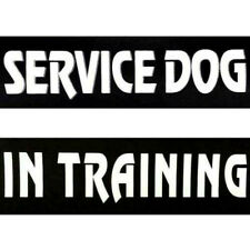 2 Patch Label Black Tag Patches For Pet Dog Reflective Service Vest Harness Hot