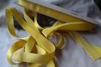 "bty yellow velvet Swiss 1"" rayon ribbon trim Millinery hat doll dress"