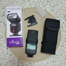 New Altura Photo AP-C1001 Flash With Pouch for Canon Autofocus E-TTL