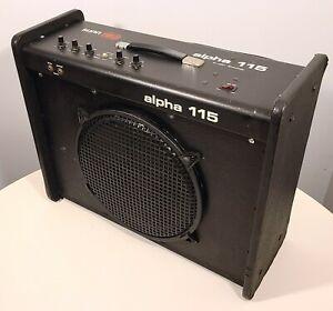 """VINTAGE SUNN ALPHA 115 COMBO AMP GUITAR BASS AMPLIFIER 1970s 50W LOUD 15"""""""