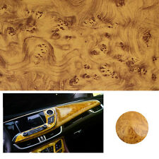 Glossy Wood Grain Textured Vinyl Self-adhesive Car Wrap Decals Sticker 100X30cm