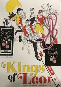 KINGS OF LEON   WEST PALM BEACH 2017 CONCERT POSTER / VIP PASS