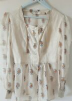 1970s Indian Calico Blouse Pure Cotton  (HIppy Chic) RARE CONDITION Size 10-12