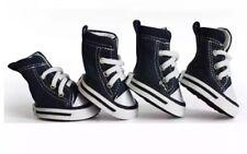 Pet Dog Anti-slip Sports Denim Sneakers Shoes Puppy Boots 4pcs USA Supply Blue