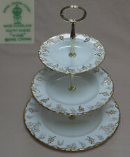 "Royal Crown Derby ""Vine"" (Green Backstamp) THREE TIER CAKE STAND"