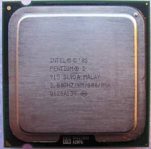 Intel Pentium D 915 Processor Dual Core 2.8 GHz 4M LGA 775 socket SL9DA
