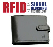 Mens RFID Leather Mens Wallet Purse Credit Card Holder Coin Pouch 1212 Black