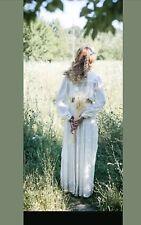 Broderie anglaise lace maxi abaya jilbab wedding prairie pleated vintage beach