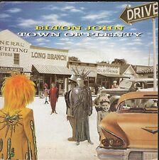 """45 TOURS / 7"""" SINGLE--ELTON JOHN--TOWN OF PLENTY / WHIPPING BOY--1983"""