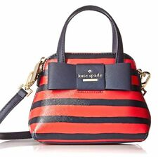 Kate Spade Striped Navy And Red Mini Maise Crossbody New With Tags NWT