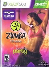 Zumba Fitness Join the Party (Xbox 360, 2010)    Factory Sealed Cellophane