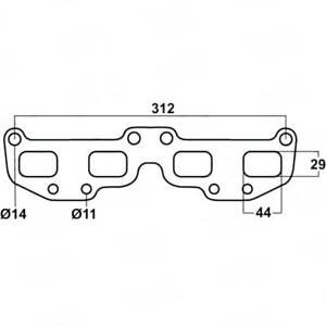 To SUIT NISSAN XTRAIL T30 2.5LT EXHAUST MANIFOLD EXTRACTOR GASKET