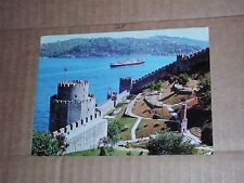 Mosque Bosphorus Istanbul Turkey European Side Cruise ship Ferry Boat Ship fort