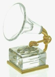 New Swarovski Crystal Gramophone boxed original & certificate of authenticity