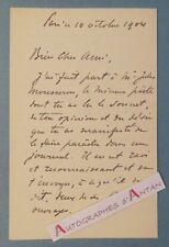 L.A.S 1904 CAROLUS DURAN Peintre + Poésie de Jules MOUSSERON Lettre autographe