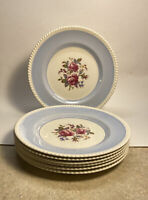 Vintage Windsor Ware FB&Co Seven (7) Dinner Plates Johnson Bros England 10-3/4""