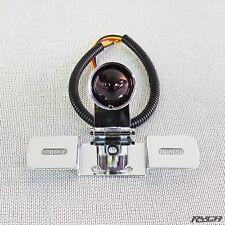 Atomic Glass Lens Motorcycle Tail Light Chrome Cafe Racer Bobber Ryca Motors