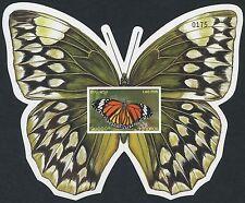 LAOS Bloc N°162** Non dentelé Papillon, 2003 Butterfly Sheet Sc#1566 imperf. MNH