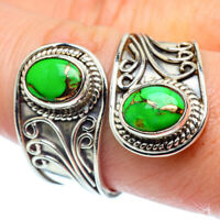 Green Copper Turquoise 925 Sterling Silver Ring Size 8 Jewelry R38666F
