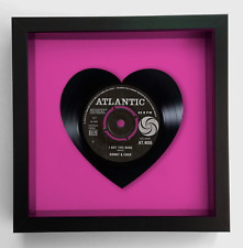 Sonny and Cher - I Got You Babe - Heart Vinyl Record Art 1965