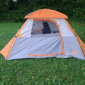 Ozark Trail Tent 4 Person Sport Dome Gray and Orange 9ft x 8ft Camping