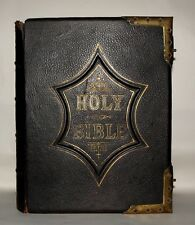 LARGE National Comprehensive Family Bible- Scott & Henry John Eadie c1880 H & CO