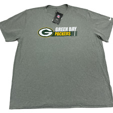 New listing Nike Men's Dry Green Bay Packers Dri Fit Short Sleeve T Shirt Gray Size 3XL New