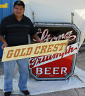 Antique Porcelain Neon Advertising Sign Storz Triumph (Gold Crest) Beer Omaha NE